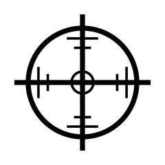 crosshair target vector symbol icon design.