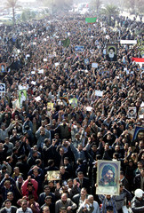 THOUSANDS MARCH IN BAGHDAD TO DEMAND ELECTIONS.