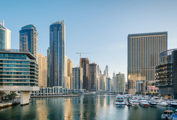 Dubai Marina in the morning