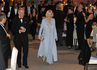 Britain's Prince Charlesand his wife Camilla arrive for the German Sustainability prize giving ceremony at the German Historical Museum in Berlin