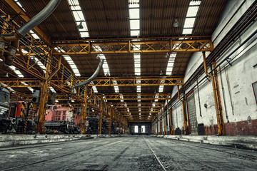 Fototapete - Interior of a vehicle repair station
