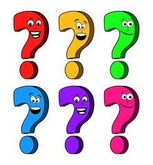 question mark cartoon vector symbol icon design.