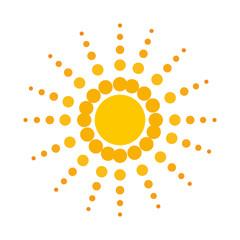 sun icon over white background. colorful design. vector illustration