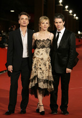 French actress Testud, director Bartillat and actor Thierree pose at the Rome International Film Festival