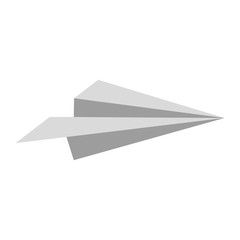 paper plane icon over white background. vector illustration