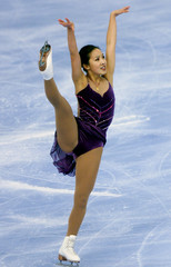 AMERICAN FIGURE SKATER MICHELLE KWAN IN ACTION AT GOODWILL GAMES.