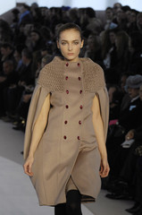 A model presents a creation by Italian designer Alessandra Facchinetti for Valentino as part of their Fall/Winter 2008/09 women's ready-to-wear fashion show in Paris