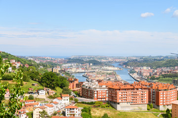 panoramic views to Bilbao neighborhood,  Spain
