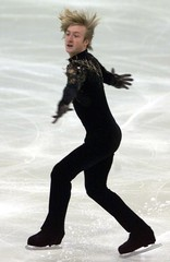 YEVGENY PLYUSHCHENKO OF RUSSIA SKATES DURING THE CUP OF RUSSIA GRANDPRIX FIGURE SKATING COMPETITION ...