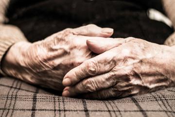 Eldery woman hands