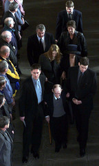 THE FAMILY OF JIM BAXTER LEAVE GLASGOW CATHEDRAL.