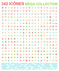 342 icônes - quadricolore