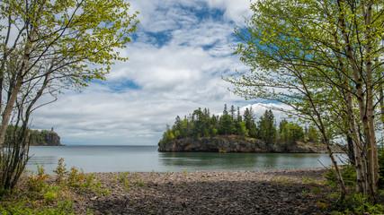 birch, lake superior, ellingson island, split rock lighthouse