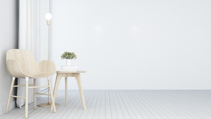 Wall Mural - Relax space in hotel - 3D Rendering