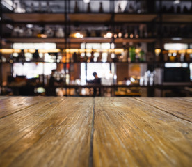 Table top counter Blurred Bar Shelf People Restaurant pub background