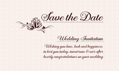 Greeting card wedding vector illustration