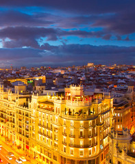 Madrid at twilight, Spain