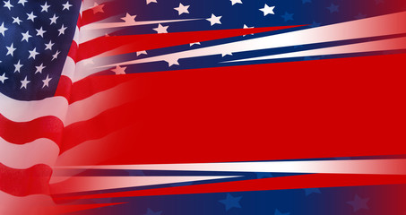 Abstract background design of American flag design for independence day, memorial day and other celebration