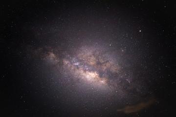 Sky night with galaxy