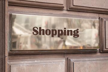 Schild 205 - Shopping