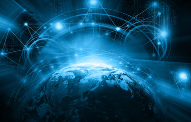 Fototapete - Best Internet Concept of global business from concepts series. Elements of this image furnished by NASA