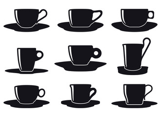 Coffee Cup Set Silhouette