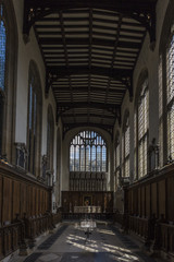 Inside the University Church of St Mary the Virgin
