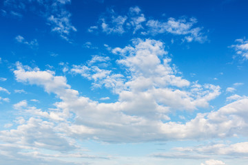 soft focus blue sky and clouds view, natural background