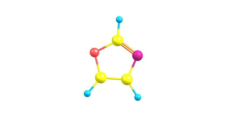 Oxazole molecular structure isolated on white