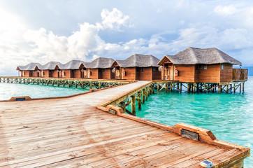 Maldivian bungalows