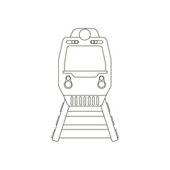 Train silhouette illustration