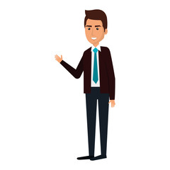 businessman avatar character icon vector illustration design