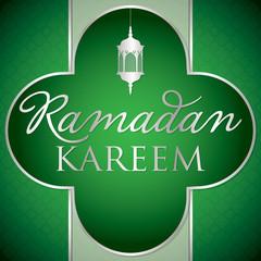Label Ramadan Kareem (Generous Ramadan) card in vector format.