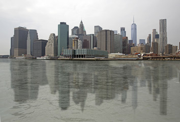 Printed roller blinds Shanghai Skyline of Manhattan with reflection on the water, New York USA
