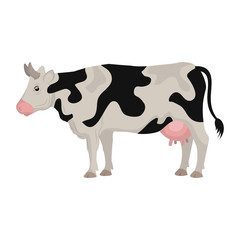 cow farm animal icon vector illustration design