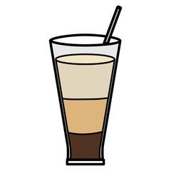 coffee glass container icon vector illustration design