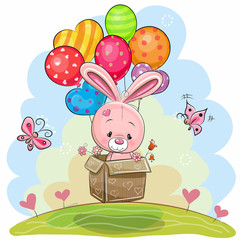 Cute Rabbit with balloons