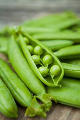 Green Peas Macro -  organic food from the garden.