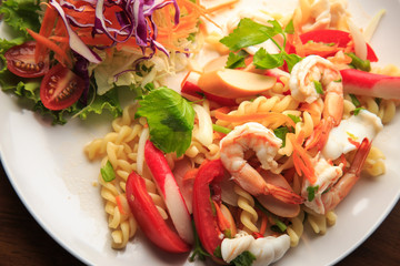 Spicy salad thai food