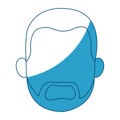 cartoon head young man faceless silhouette vector illustration