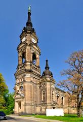 Ruine der im zweiten Weltkrieg zerstörten Trinitatiskirche Dresden, Sachsen, Deutschland, Europa