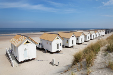 Beach house on the beach near the sea