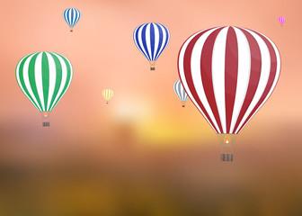 balloon air illustration background