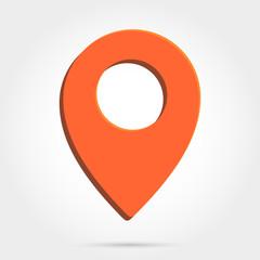 Map pointer icon. GPS location symbol