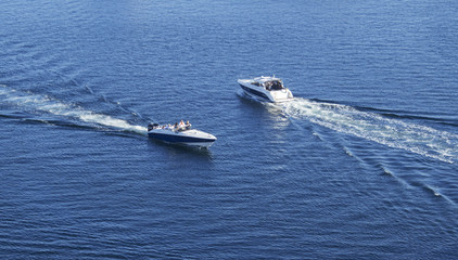 Boats sharing the same water