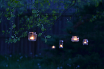 upcycled glass jar hanging garden lanterns