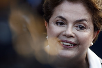 Brazilian presidential candidate for the ruling Workers Party (PT) Rousseff talks during a news conference in Brasilia