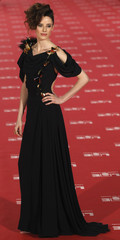 Spanish actress Lopez de Ayala poses on the red carpet before the Spanish Film Academy's Goya awards ceremony in Madrid