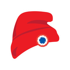 1fca8420122 Vector illustration  red beanie or seamed cap