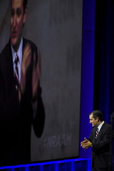 Republican presidential candidate U.S. Senator Ted Cruz speaks during the National Rifle Association's annual meeting in Nashville, Tennessee